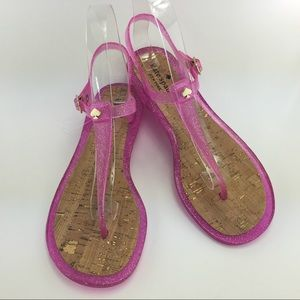 Kate Spade Pink Jelly Sandals Pink Size 8M